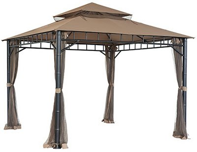 Sunjoy industries gz317pstmn gazebo mosquito netting - Insect netting for gazebo ...