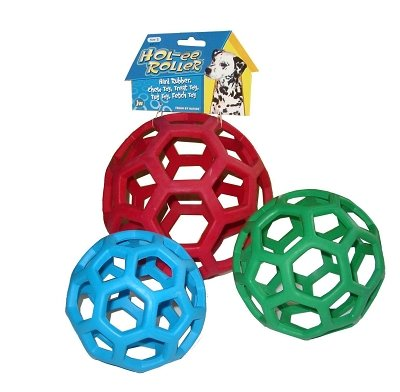 """Brand New Jw Pet Company, Inc - Holee Roller (6.5"""""""") """"Dog Products - Dog Toys - Rubber And Plastic"""""""