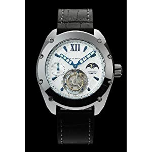 Android Limited Edition Virtuoso Mechanical Tourbillon Leather Strap Watch