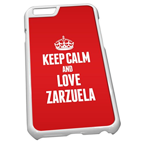 Blanc Coque pour iPhone 61670Rouge Keep Calm and Love Zarzuela
