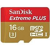 SanDisk Extreme Carte Mémoire MicroSDHC Plus 16Go jusqu'à 95Mo/s, Classe 10, U3