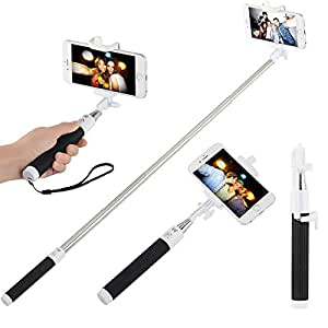 innogear foldable portable bluetooth selfie stick mini extendable wireless monopod handheld. Black Bedroom Furniture Sets. Home Design Ideas