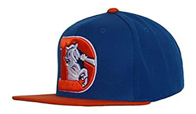 NFL Mitchell & Ness Denver Broncos Throwback XL Logo 2T Snapback Hat - Royal Blue/Orange