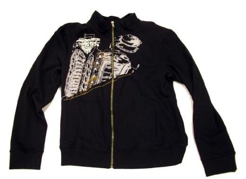 Atticus Motor Mens Black Track Jacket: Large