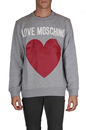 LOVE MOSCHINO FELPE UOMO M645901 maniche lunghe girocollo stampa logo GRIGIO MEL S