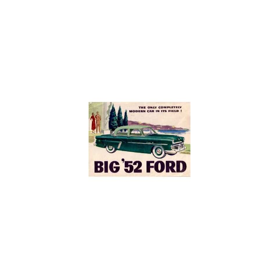 1952 Ford Sales Brochure Literature Book Piece Advertisement Specs Options