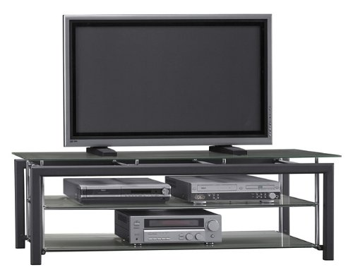 Cheap Bush Platinum Mist Collection Metallic 60″ Plasma TV Stand Video Base (VS44150-03)