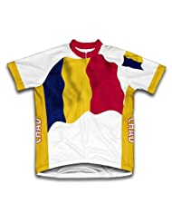Chad Flag Short Sleeve Cycling Jersey for Women