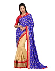 Rajnandini Georgette Embroidery Designer Saree With Unstichhed Blouse