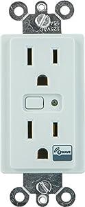 GE Z-Wave Wireless Lighting Control Duplex Receptacle