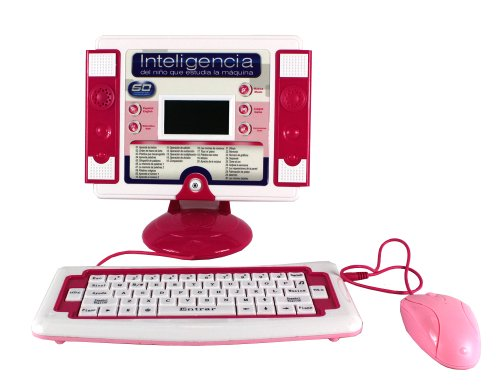 Ultimate-Study-Machine-Bilingual-Educational-Toy-Desktop-Computer-Set-for-Kids-Learn-Play-in-EnglishSpanish-60-Fun-ActivitiesGames-about-Language-Math-Music-Pink