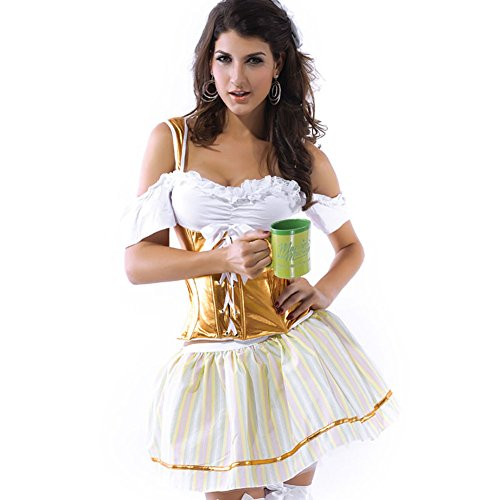 LFDDR Halloween Women's Sexy Slim Oktoberfest Beer Girl On Stage Costumes