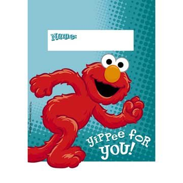 Hoo-ray for Elmo Treat Bags 8ct