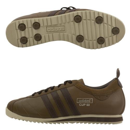 Amazon.com: adidas Cup 68 Vintage Brown Mens Retro Shoes - 017297