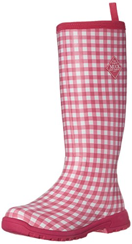 MuckBoots Women's Breezy Tall Insulated Rain Boot, Pink Gingham, 7 M US (Pink Insulated Boots compare prices)