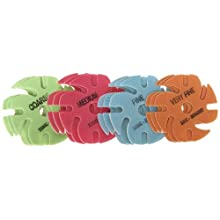"JoolTool 3M Ninja Trizact Assortment Pack, Green, Red, Blue, Orange (3 of each) 3"" Diameter"