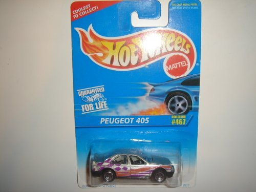 1996 Hot Wheels Peugeot 405 Silver 5sp Wheel #467 - 1