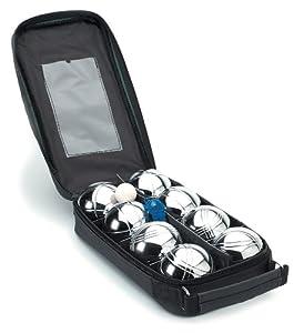 Boules Unisex Set of 8 Boules - Black/Silver