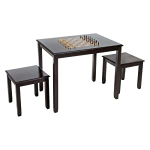 Amazon.com: Braxton Acacia Wood Game Table with Stools: Toys & Games