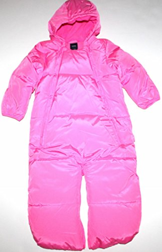 baby-gap-down-fill-convertible-snowsuit-or-bag-with-hand-covers-fleece-lining-3-6-mo-neon-pink