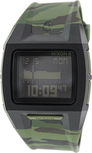 Nixon Men's Lodown Ii A2891629 Green Rubber Quartz Watch (Lodown Ii compare prices)