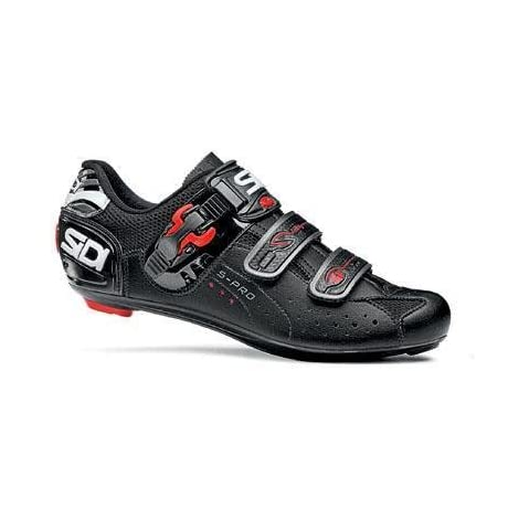 Sidi 2011 Genius 5 Pro Carbon Men's Road Cycling Shoes - Black (Black - 41)
