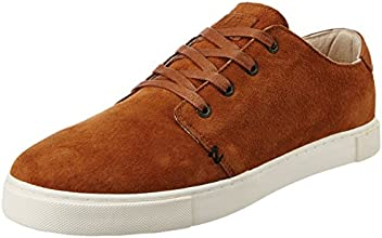 Hub Men's Hackney/24 Ns Cognac and Off White Suede Sneakers - 10 UK (M20C-08 Ns-N01-149)