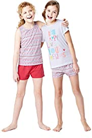2 Pack Pure Cotton Assorted Shortie Pyjamas