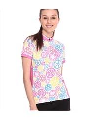 Jakroo Women's Pink Outdoor Short-sleeved Cycling Jerseys /Riding Upper Outer Garment