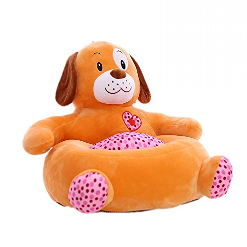 Children PP Cotton Plush Toys Baby Chair Seat Sofa,Kids Cartoon Animal Sofa,Soft Tatami Chairs Gifts for Boys and Girls Dog
