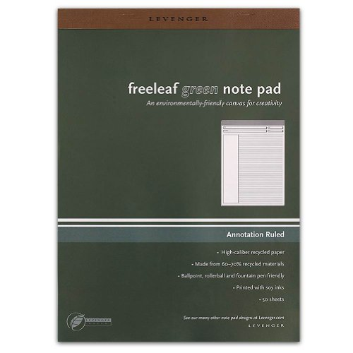 Levenger Freeleaf Recycled Annotation Ruled Pads, Letter(5) (ADS5510) (Annotation Ruled Pads compare prices)
