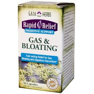 Gaia Herbs Rapid Relief Gas And Bloating -- 50 Capsules