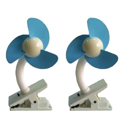 Dream Baby Stroller Fan, White/Blue - 2 Pack (Stroller Fan compare prices)