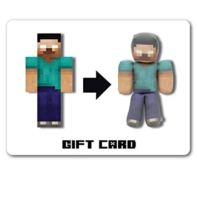 25 Gift Card To Create Your Own Minecraft Plush Toy from Happy Toy Machine
