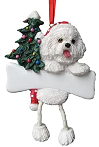 "Amazon.com: Bichon Frise Ornament with Unique ""Dangling Legs"" Hand"