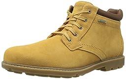 Rockport Men\'s Rugged Bucks Waterproof Chukka Boot, Tan Suede, 6.5 W US