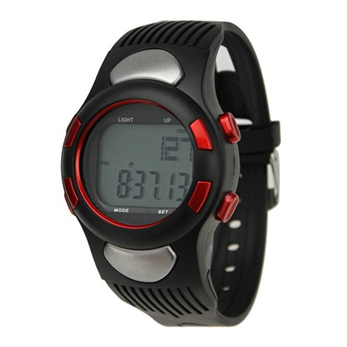 EZ Pro Calories Counter Fitness Pulse Heart Rate Monitor Pedometer Sport Watch Quick Touch Technology Red