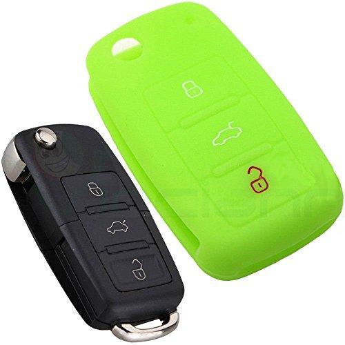 custodia-silicone-guscio-protettivo-verde-telecomando-auto-volkswagen-golf-touareg-scirocco-tiguan-t