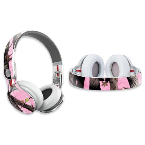 Mightyskins Protective Vinyl Skin Decal Cover For Dr. Dre Beats Mixr Headphones Sticker Skins Pink Tree Camo