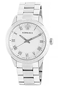 Versace Women's P6Q99FD002 S099 Pair Analog Display Quartz Silver Watch