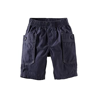 Tea Collection Baby-Boys Infant Cargo Shorts, Blue Chambray, Large