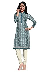 Riddhi Dresses Women's Cotton Unstitched kurti (Riddhi Dresses 25_Multi Coloured_Free Size)