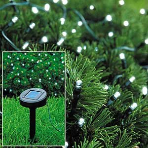 Click to read our review of Christmas Solar Lights: Solar Powered Christmas Lights String Light 50 LED White