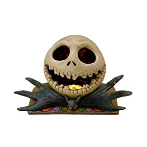 #!Cheap Disney Traditions designed by Jim Shore for Enesco Nightmare Before Christmas Jack Head Tealight Figurine 5.5 IN