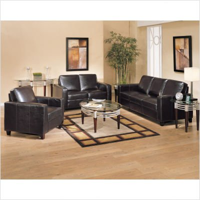 Buy Low Price Wildon Home Bycast Leather Match Sofa and Loveseat Set in Dark Brown (B004BYTJ30)