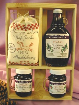 Deluxe Gift Crate: 10oz Huckleberry Syrup, 2-5oz