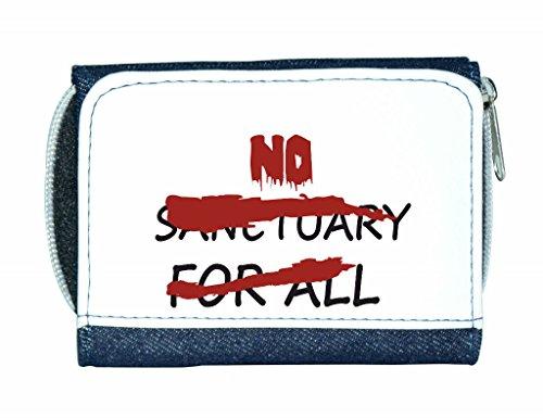 N. Sanctuary per Sign annullata Zombie-Borsetta da donna a portafoglio porta carte di credito, blu (Blu) - LP-no-sanc-Blue-12x9cm