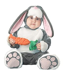 InCharacter Infant Bunny Costume, Dark Grey/White/Pink, 12-18 Months