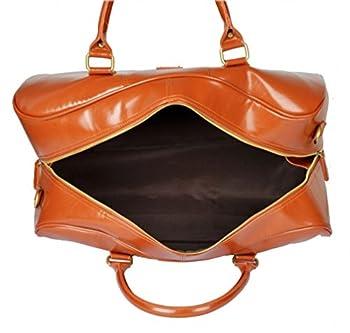 Kenox Men's Pu Leather Travel Bag Duffel For Men 2