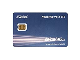 Telcel Mexico Prepaid SIM Card with 4GB Data (LTE Nano)